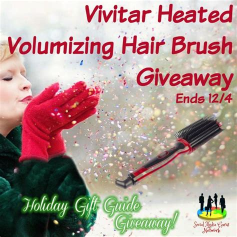Hair Giveaway - vivitar heated volumizing hair brush giveaway ends 12 4 the homespun chics