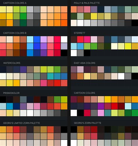 color swatches free procreate color swatches 37 palettes for painti