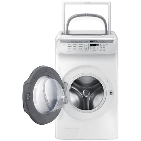 Samsung Front Load Washer Shop Samsung Flexwash 5 5 Total Cu Ft High Efficiency Front Load Washer White Energy At