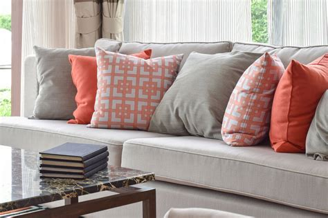 orange pillows for sofa 35 sofa throw pillow exles sofa d 233 cor guide