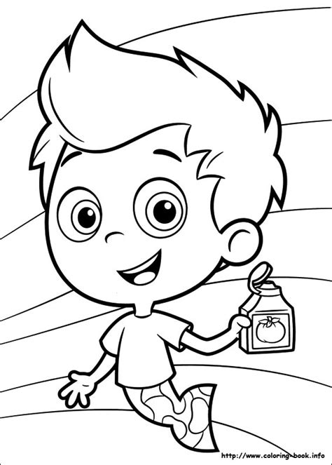 Bubble Guppies Coloring Pages Bestofcoloring Com Guppies Coloring Pages