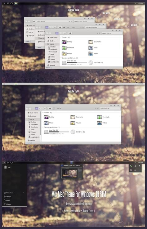 mac theme pack for windows 10 mix mac theme for win10 skinpack customize your