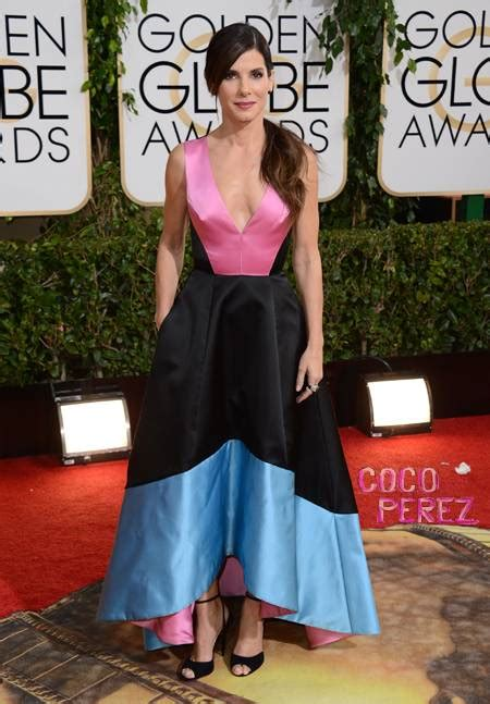 sandra bullock golden globes 2014 sandra bullock is tragically tricolored at the golden