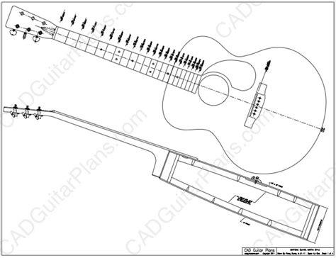 electric acoustic guitar plans pdf baritone acoustic guitar plan martin style cad