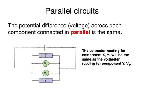 parallel circuits potential difference ppt aqa gcse physics 2 5 current electricity powerpoint presentation id 418298