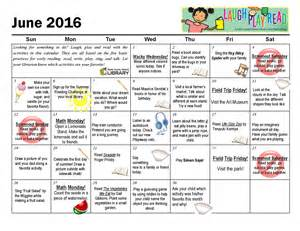 Inexpensive Monthly Calendars June Monthly Activity Calendar Laughplayread