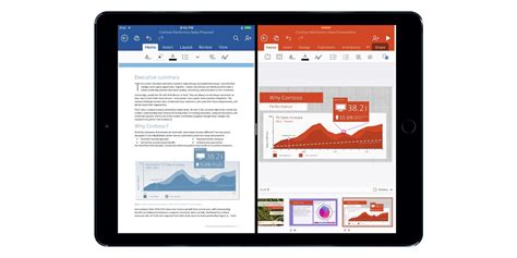 Office For Ios by Office For Ios 9 Will Let You Multitask And Scribble On