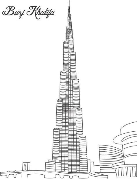 coloring book for adults dubai burj khalifa colouring buildings houses