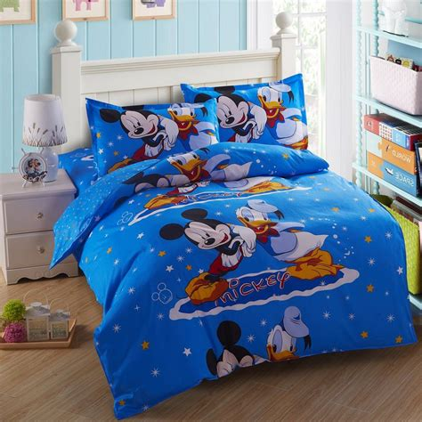 mickey mouse twin bed set very cute kids cartoon bedding set twin size 3 piece 100