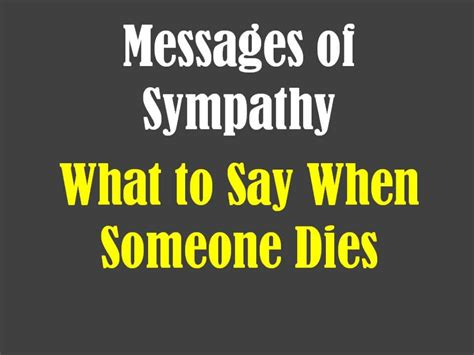 sympathy quotes for when some pass away quotesgram