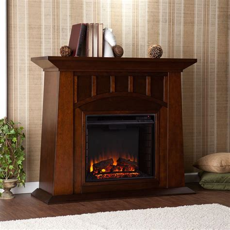Freestanding Electric Fireplace Southern Enterprises Logan 48 In Freestanding Electric Fireplace In Espresso Hd9489 The Home