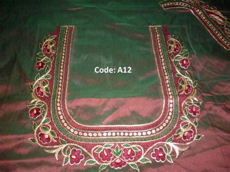 blouse pattern works full thread work kanniya aari works pinterest blouse