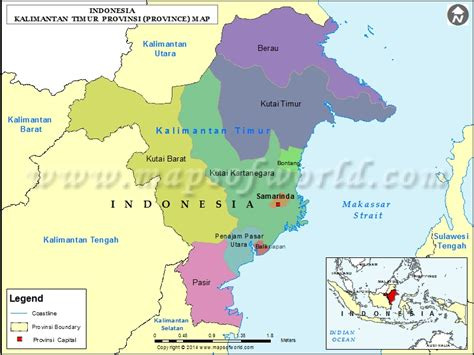 List Of All Us States by Kalimantan Timur Map Map Of Kalimantan Timur Province