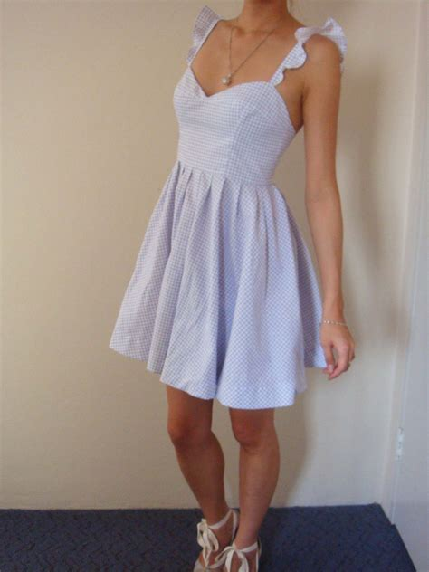 recycled curtain ruffle strap dress sewing projects