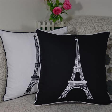 Eiffel Tower Pillow Cases 45 45 cm decorative vintage eiffel tower printed
