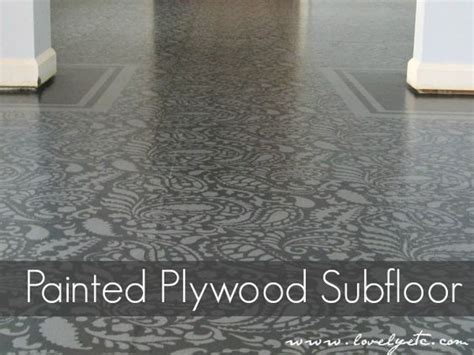 cheap flooring solutions amazing painted plywood subfloor a how to stencils