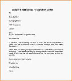 Sle Letter Of Resignations by Resume Exles Resume Format Pdf