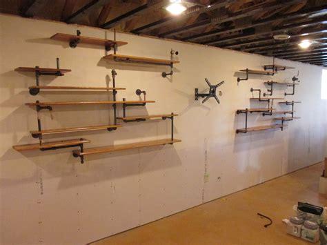 steampunkindustrial pipe shelves  beau kara studios