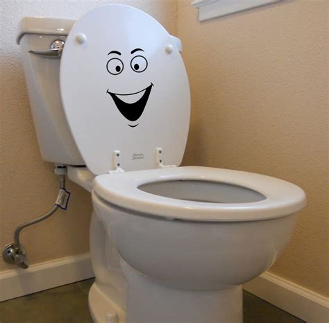 funny bathroom wallpaper 20x13cm smiley face decal for toilet laptop car funny