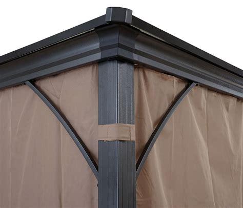 pavillon 3x3 alu hardtop pergola mcw c74 garten pavillon kunststoff dach