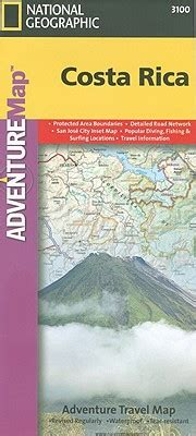 waterproof travel map of costa rica books costa rica by national geographic maps calendar