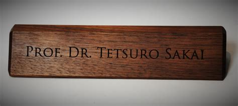 Wooden Desk Name Plates by Personalized Wooden Desk Name Plates 10 Inch Solid Walnut