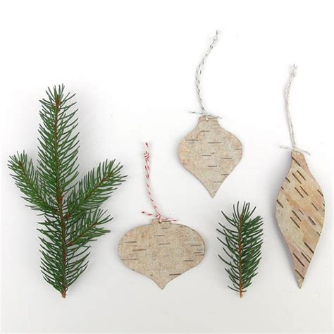items similar to birch bark vintage bulb ornaments eco
