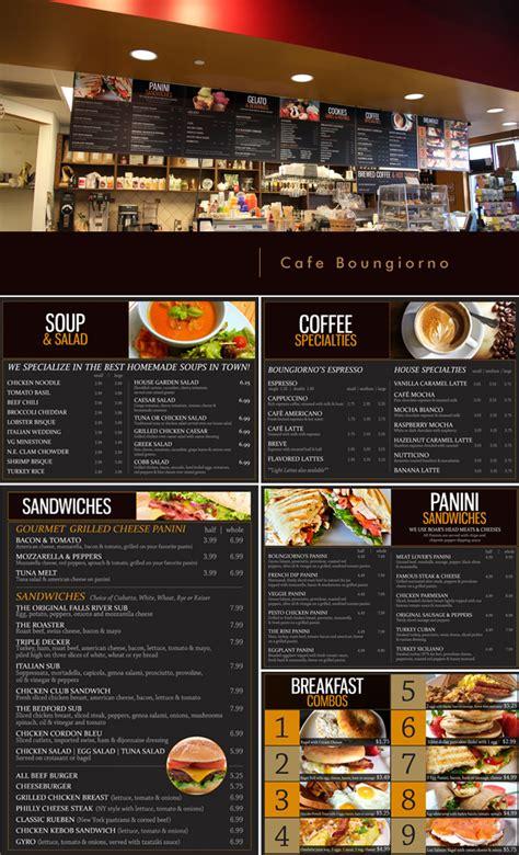 cafe menu boards design menu board design and printing cafe bongiorno tigerhive