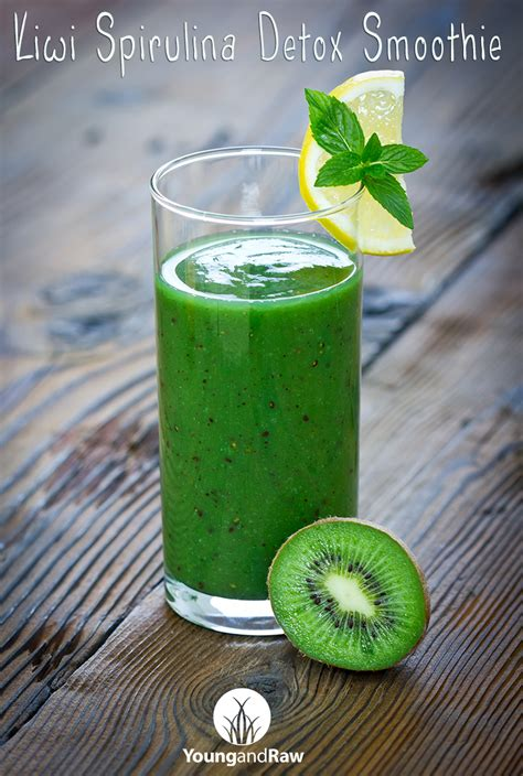 How To Use Spirulina For Detox by Kiwi Spirulina Detox Smoothie And