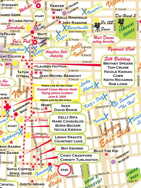 hollywood celebrity tour map village to little italy celebrity home walking tour john