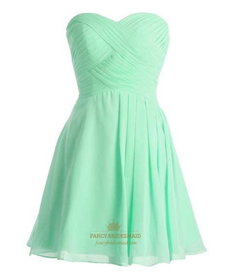 Mint Green Bridesmaid Dress by Mint Green Sweetheart Chiffon Bridesmaid Dress With