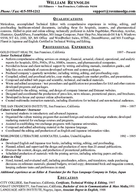 freelance writing resume sles resume sles language skills freelance writing resume
