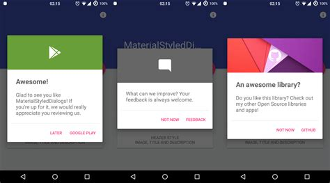 the android arsenal dialogs materialstyleddialogs - Dialog Android