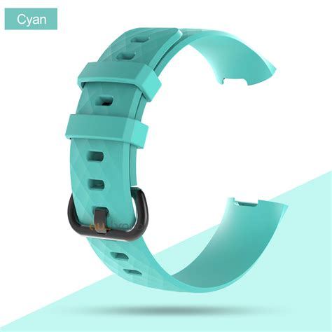 for fitbit charge 3 replacement silicone wrist sports band wristband ebay