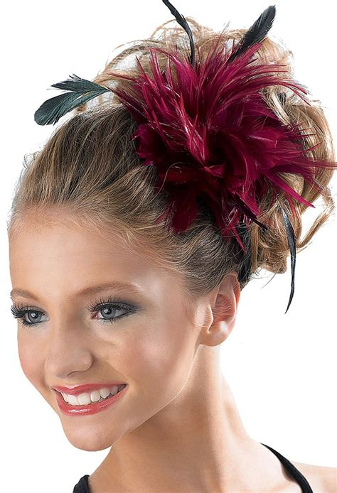 pouf hairstyle accessories feather hair pouf clip accessory balera