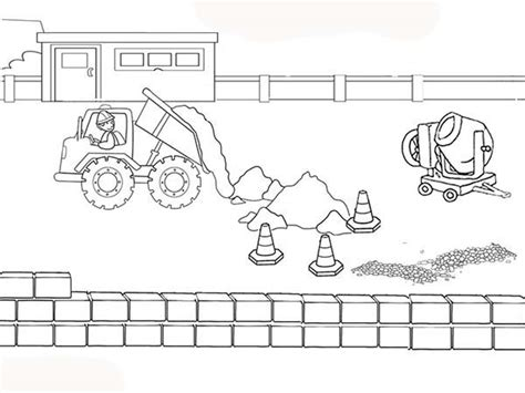 construction site coloring pages coloringstar