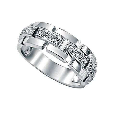white gold engagement ring for with unique design ipunya