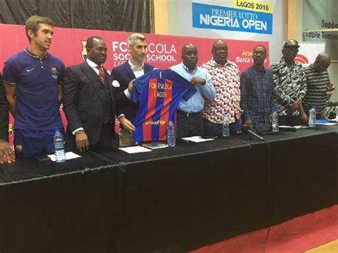 fc barcelona unveils football academy in lagos