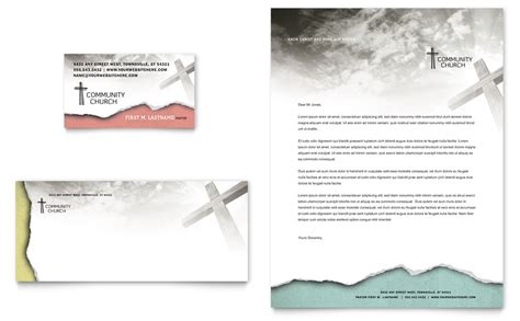Microsoft Word Business Card Template School by Bible Church Business Card Letterhead Template Word