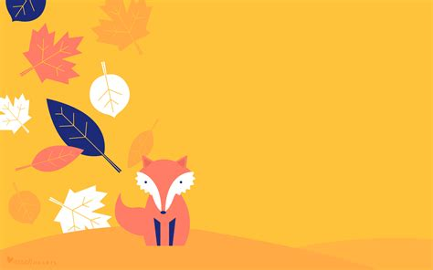 wallpaper for the laptop fall leaf and fox october 2017 calendar wallpaper sarah