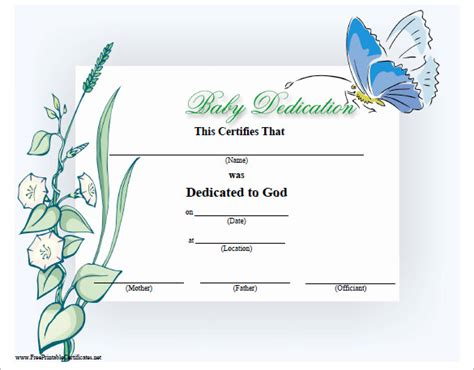baby dedication certificate template 20 free word pdf