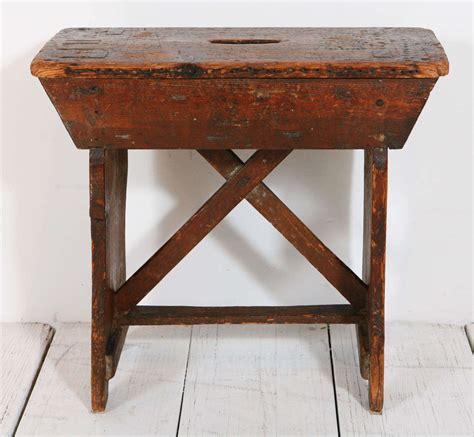 primitive pine bench at 1stdibs primitive pine stool small bench at 1stdibs