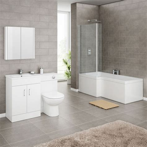 square shower bath suites turin high gloss white vanity unit bathroom suite with square shower bath screen at