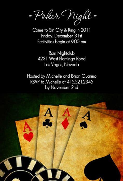poker nightcasino party invitations poker night  vegas casino party invitation
