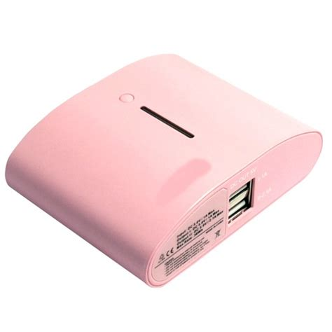 Tablet Advan Warna Pink powersmart power bank el540 10400mah with dual usb for tablet smartphone pink