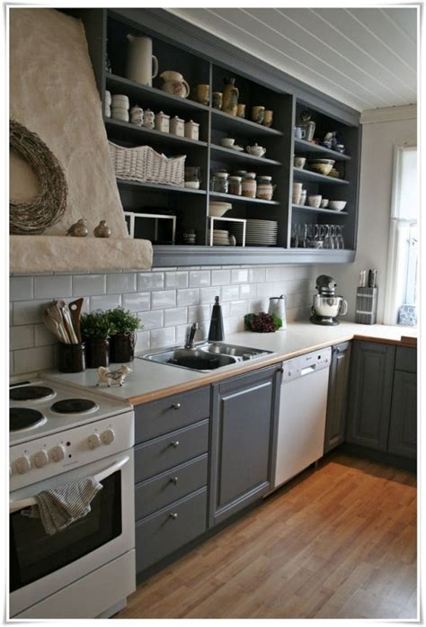 open kitchen cabinets ideas 25 open shelf ideas to your kitchen more spacious