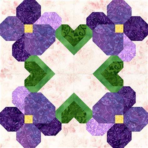 Violet Quilt by I Violets Quilt Blocks