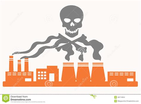 Tropical House Plans air pollution stock vector image 48174654
