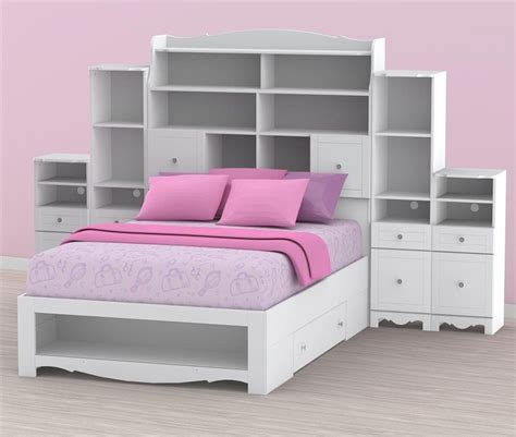 full size bookcase bed full size storage bed with bookcase headboard home biz