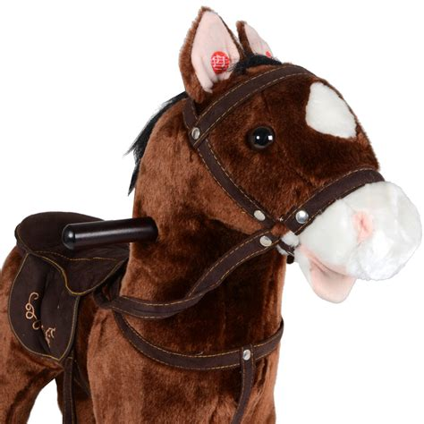 Boneka Anjing Realistic Detail Original Classic Soft childrens jolly ride traditional plush rocking pony with sound new ebay